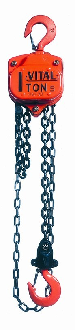 Kjettingtalje20 VL5 OLL/ZP standard løftehøyde 3 meter, 1 fall